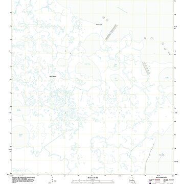 USGS TOPO Map Louisiana LA Bayou Blanc 20120405 TM by wetdryvac