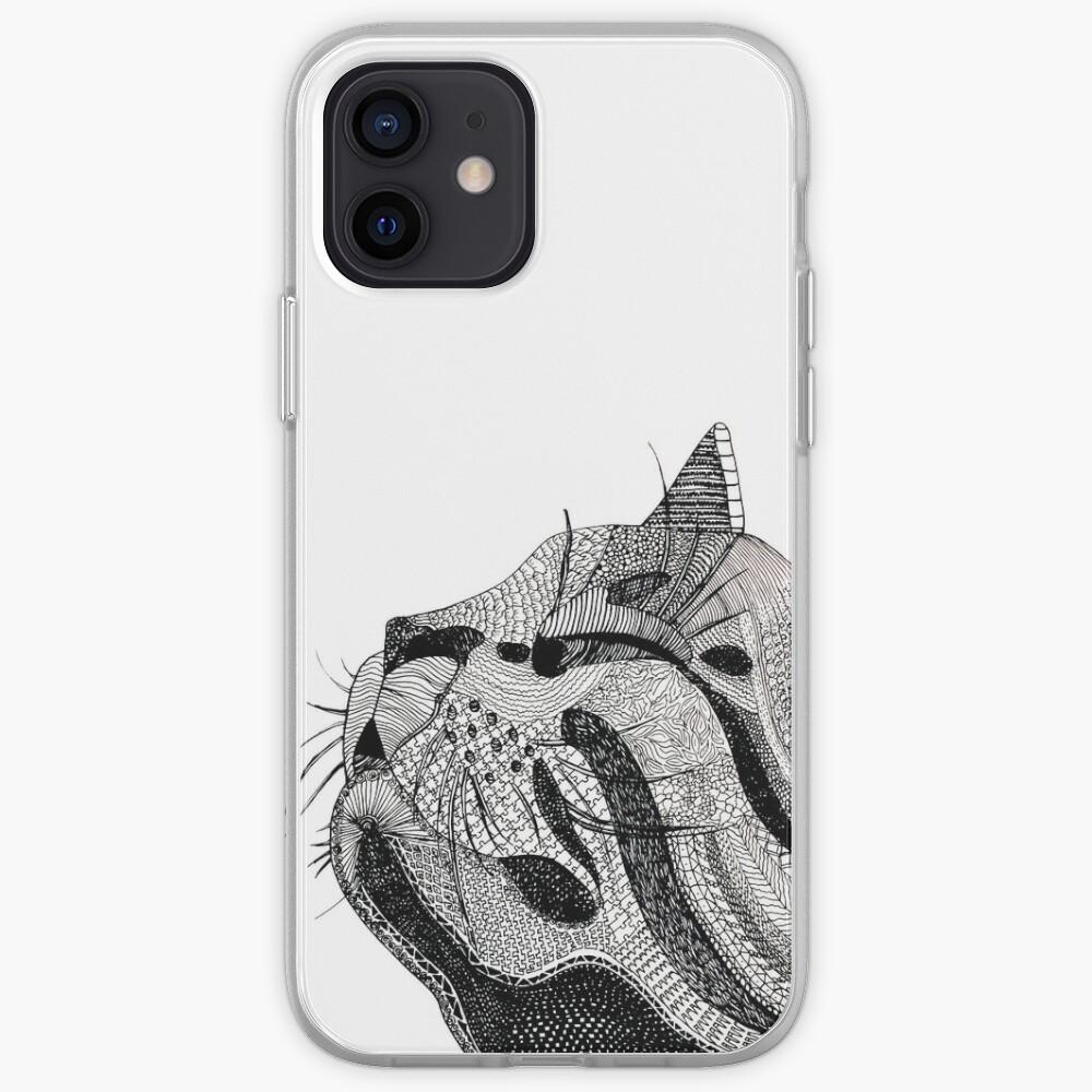 Zentangle Cat iPhone Case & Cover