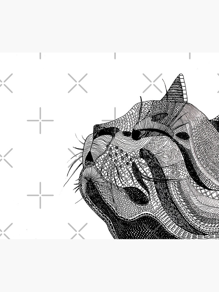 Zentangle Cat by angelagerrard