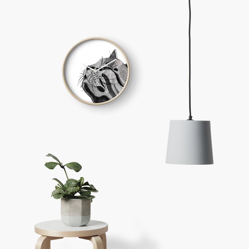 Zentangle Cat Clock