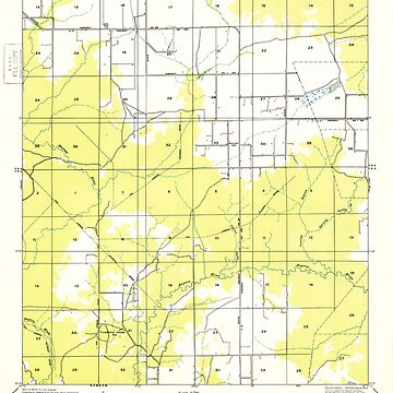 USGS TOPO Map Louisiana LA Bayou Blue 333645 1949 31680 by wetdryvac
