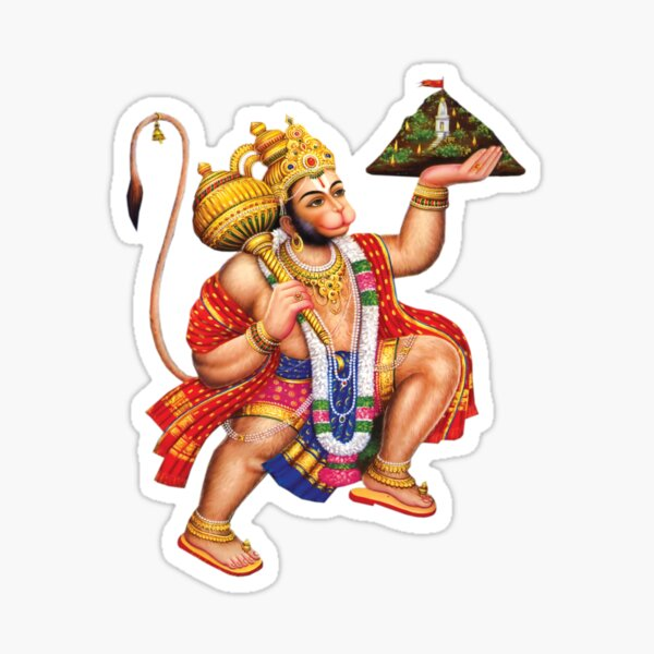 Mahabali Hanuman Hindu God Sticker Photo