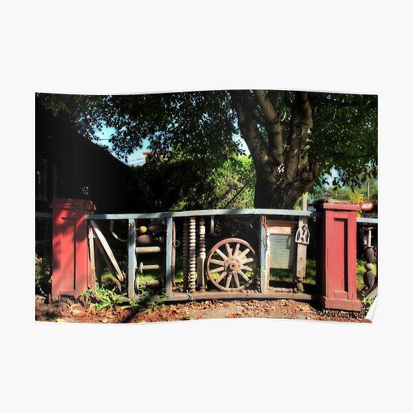 Original wooden Fence Poster