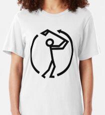 Golf Swing Icon Slim Fit T-Shirt