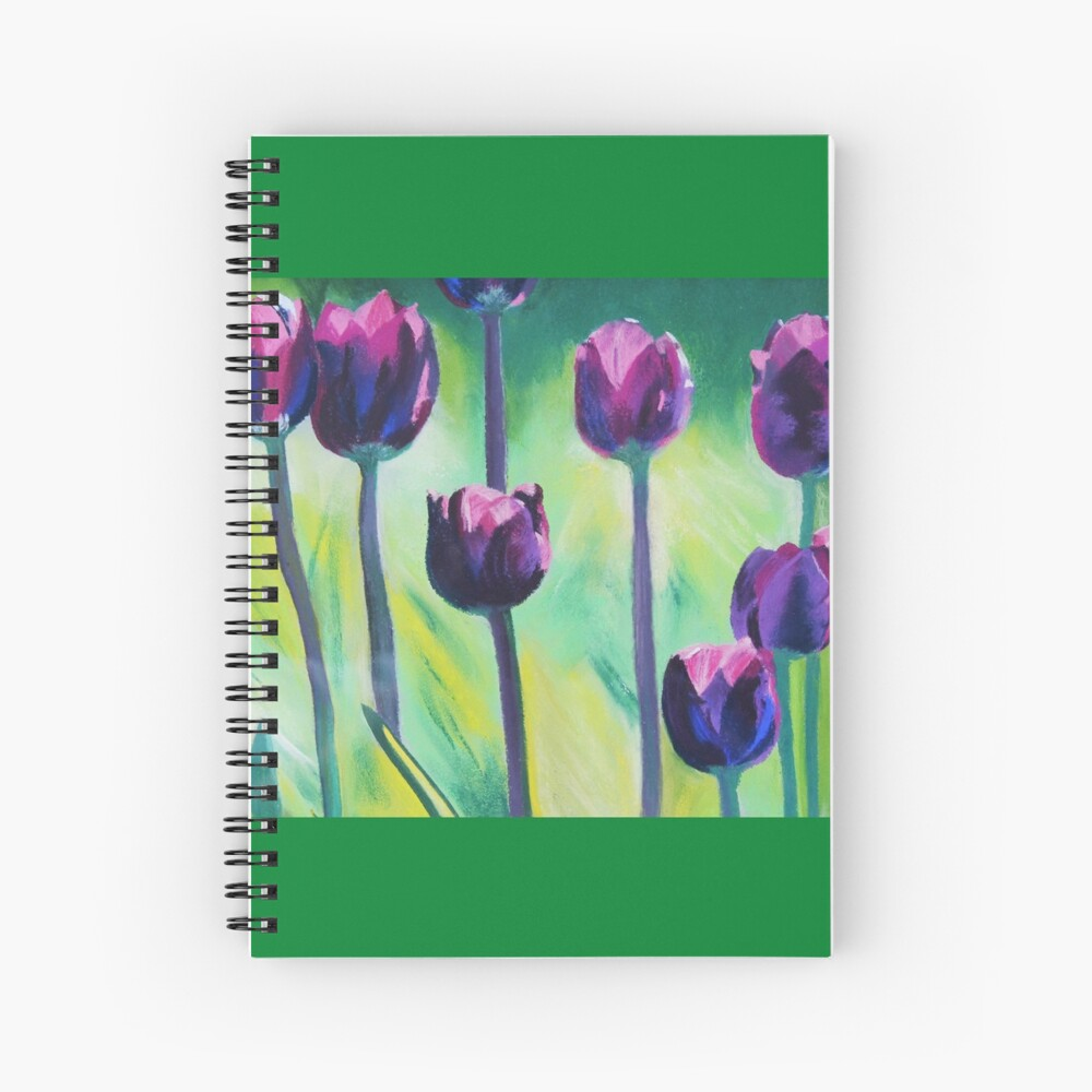 Tulips Aglow Spiral Notebook