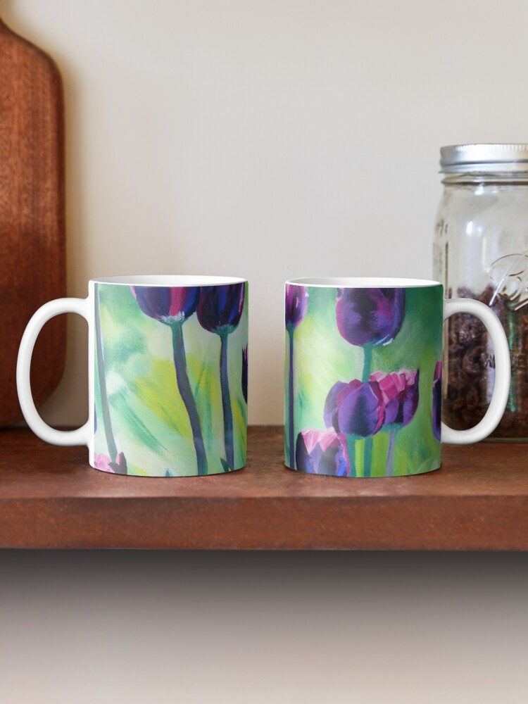 Alternate view of Tulips Aglow Mug