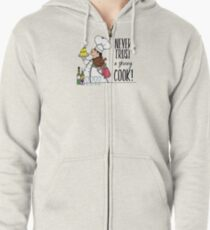 Never Trust a Skinny Cook,  Zipped Hoodie