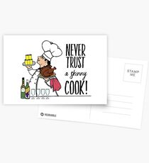 Never Trust a Skinny Cook,  Postcards