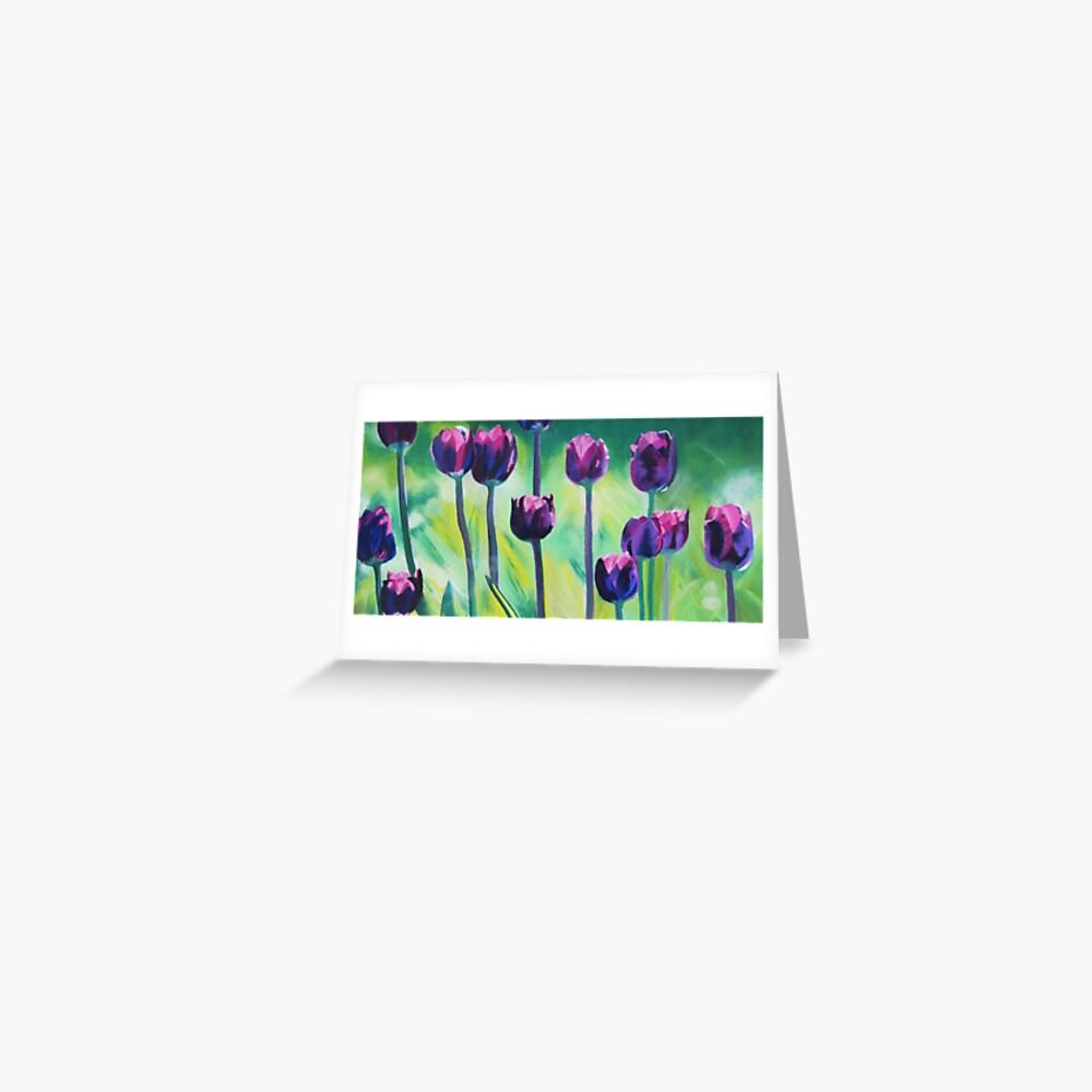 Tulips Aglow Greeting Card