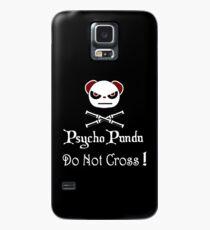 Achtung! Psycho Panda nach innen! Überquere nicht! Hülle & Klebefolie für Samsung Galaxy