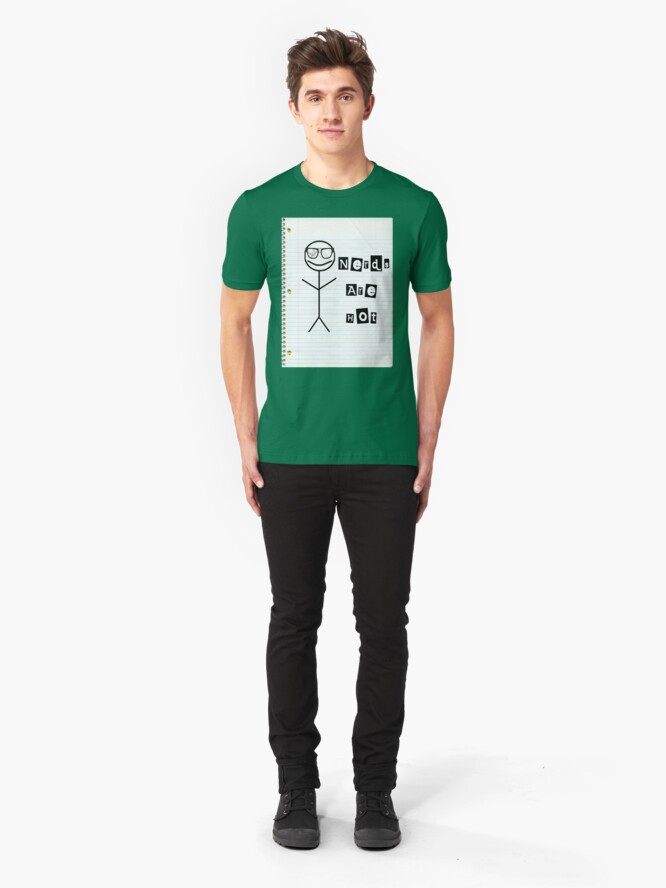 Alternate view of Nerds Are Hot Slim Fit T-Shirt