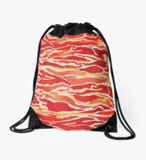 Bacon Pattern Drawstring Bag