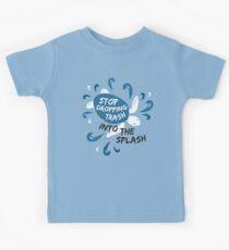 Hör auf Müll in die Splash - Turtle fallen zu lassen Kinder T-Shirt