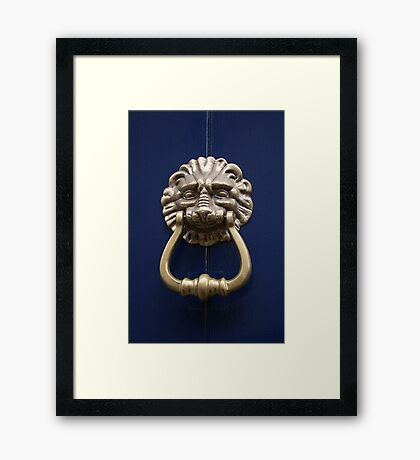 Xtreme Piercing Door Knocker Framed Print