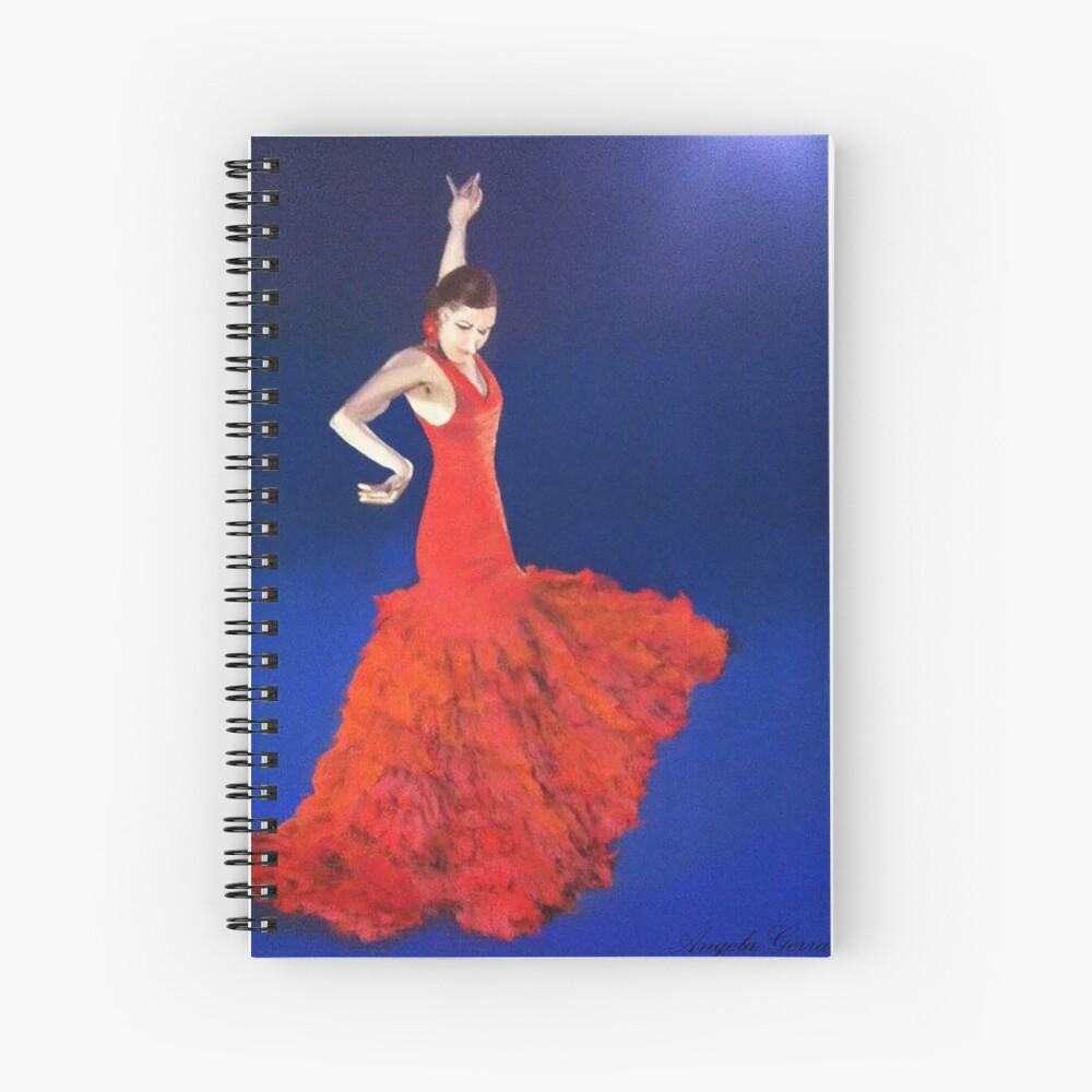 Dramatic Dance Spiral Notebook