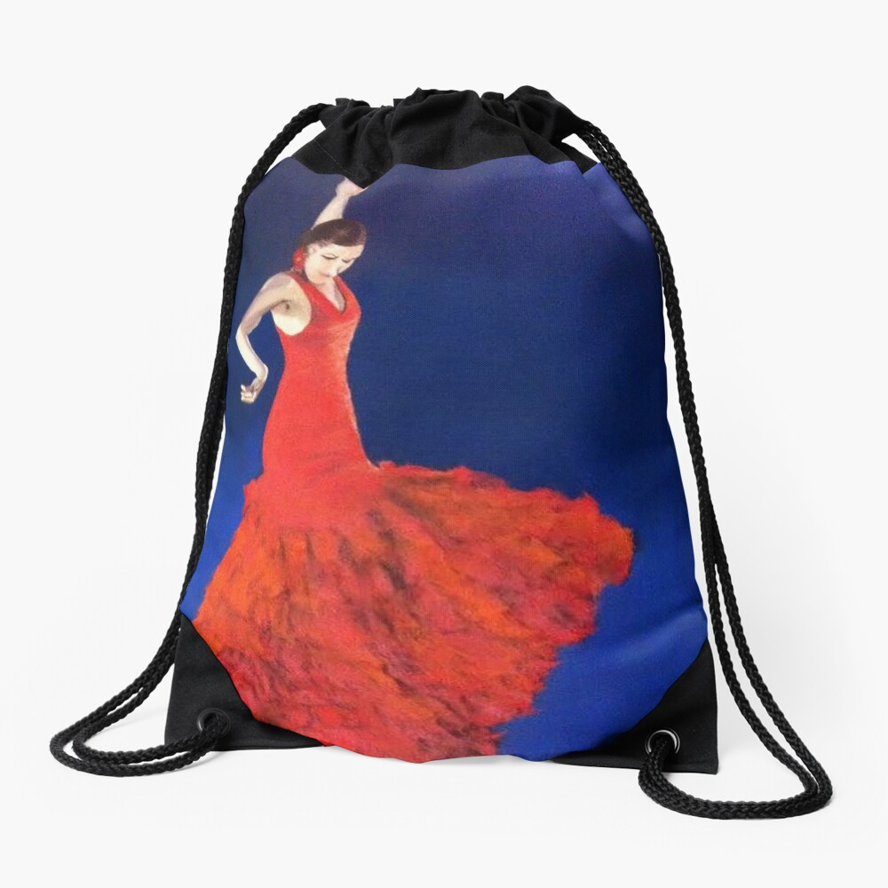 Dramatic Dance Drawstring Bag