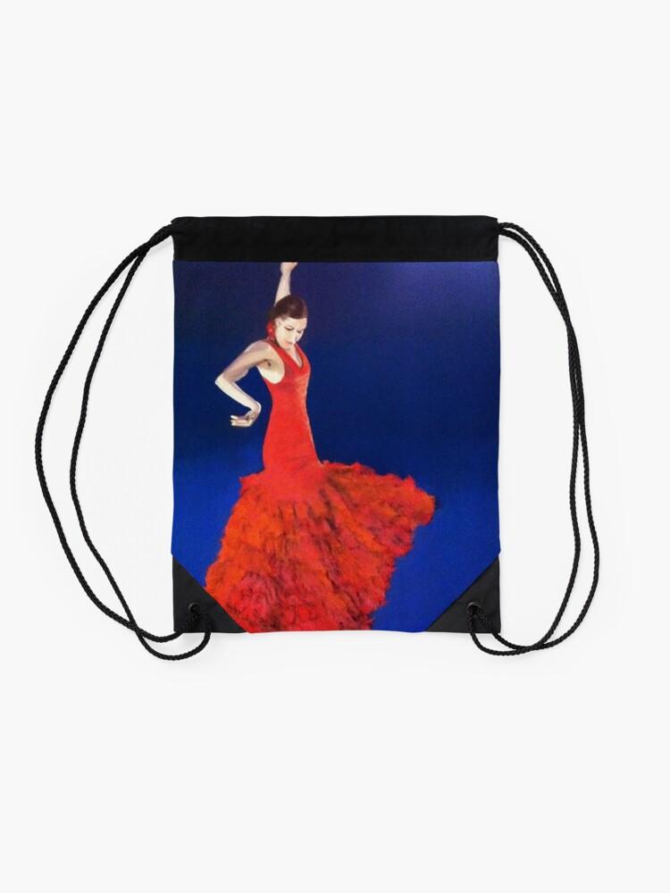 Alternate view of Dramatic Dance Drawstring Bag