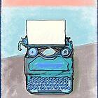 Writer's Muse -Typewriter by Kristen Palana