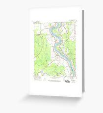 USGS TOPO Map Louisiana LA Bayou Current 331347 1969 24000 Greeting Card