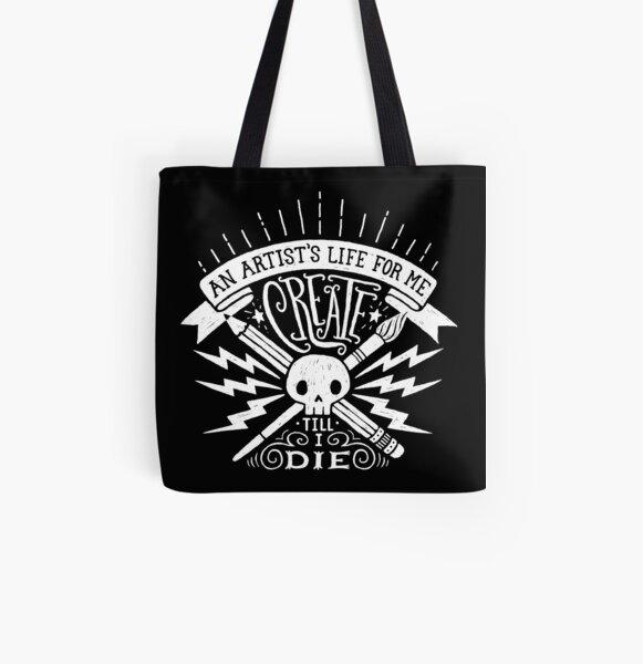 Artist's Life All Over Print Tote Bag