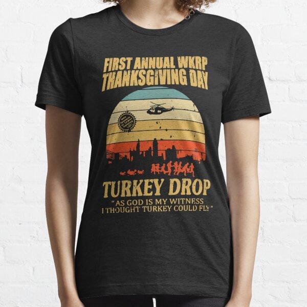 Premier largage annuel WKRP Turquie avec Les Nessman Distressed T-shirt essentiel