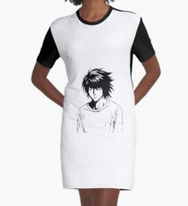 L Death Note001 Graphic T-Shirt Dress