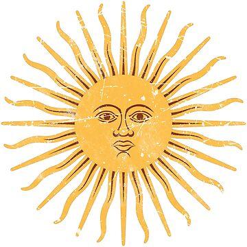 Argentina Flag Symbol Sun by quark