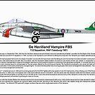 De havilland Vampire FB5 Profile by coldwarwarrior