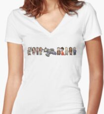 Serenity Now Women's Fitted V-Neck T-Shirt