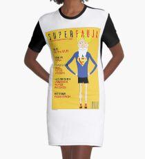Real Life Superhero Graphic T-Shirt Dress