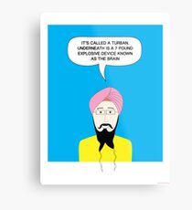 What under the Turban? Metal Print