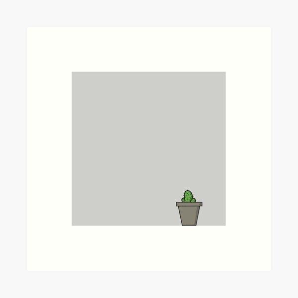 Zeichenteufel - Kaktus Kunstdruck