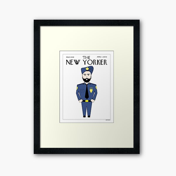Sikh New Yorker Framed Art Print