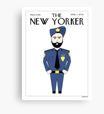 Sikh New Yorker Canvas Print