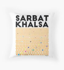 Sarbat Khalsa: Grand Gathering of Sikhs Throw Pillow