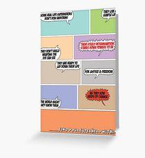 Real Life Superheroes Greeting Card