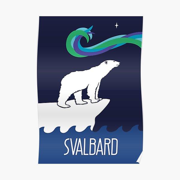 Polar Bears Under Water Big White Bear Animal Poster Cute Sweet Nature Photo