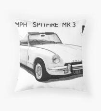 Triumph Spitfire Throw Pillow