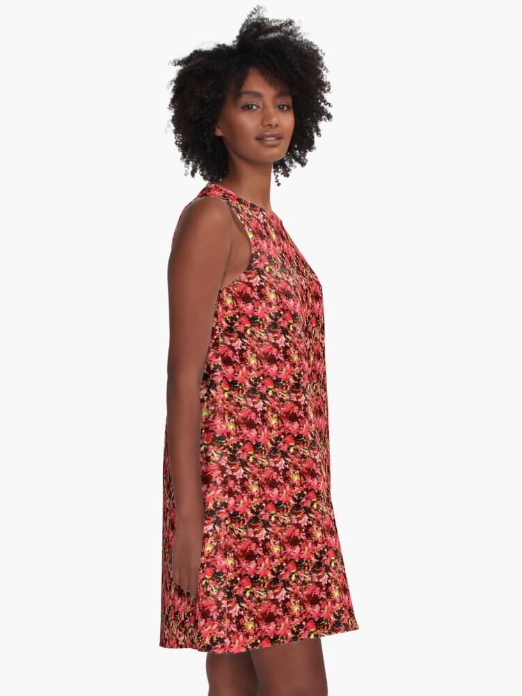 Alternate view of Autumn Oak Leaves A-Line Dress