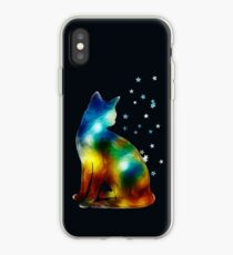 Galactic Space Cat On Milky Way, Cat, Space, Galaxy iPhone Case