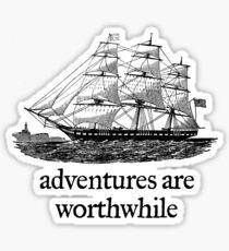 Adventure Are Worthwhile Sticker