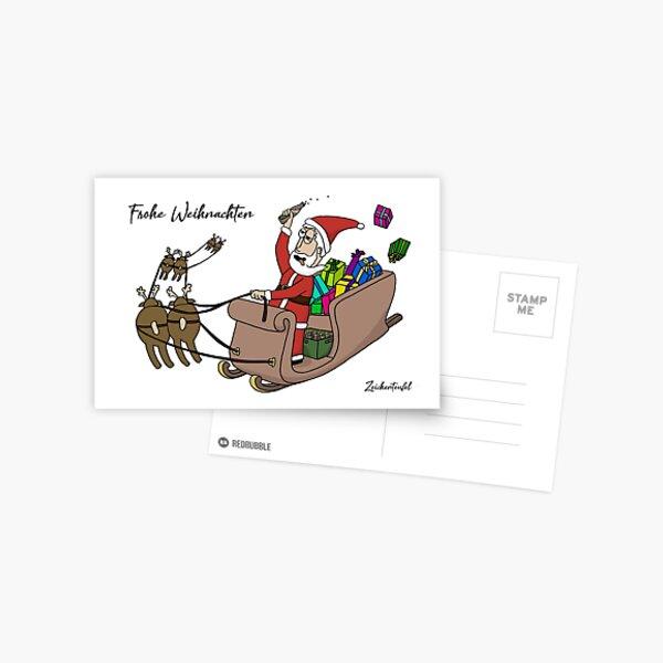 Zeichenteufel - Frohe Weihnachten Postkarte