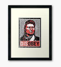 Chief Joseph Disobey Framed Print