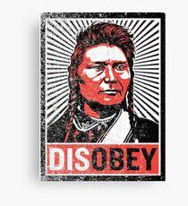 Chief Joseph Disobey Canvas Print