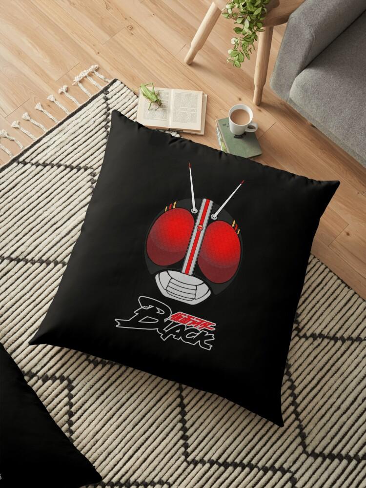 'Kamen Rider Black' Floor Pillow by Kyz Bubble