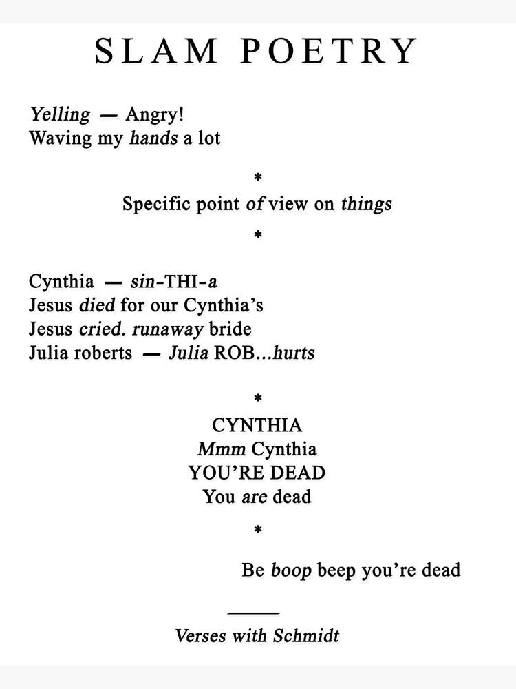 picture regarding Sarah Cynthia Sylvia Stout Printable known as Cynthia poem