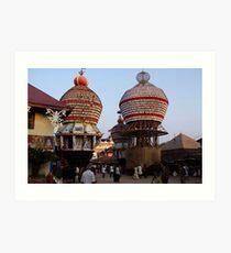 Temple Cars, Udupi Art Print