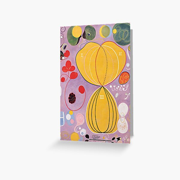 Hilma Af Klint Group IV No 7 The Ten Largest Adulthood  Greeting Card