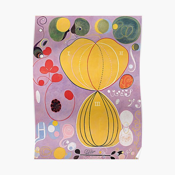 Hilma Af Klint Group IV No 7 The Ten Largest Adulthood  Poster
