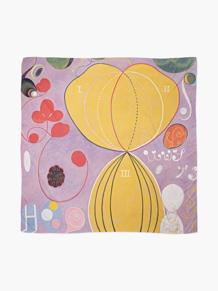 Alternate view of Hilma Af Klint Group IV No 7 The Ten Largest Adulthood  Scarf